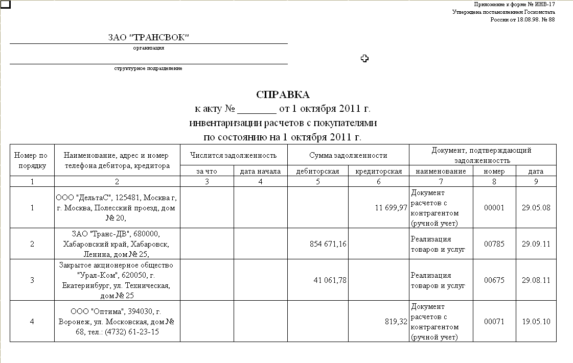 Инвентаризация номенклатуры 1с 8.2 предприятие